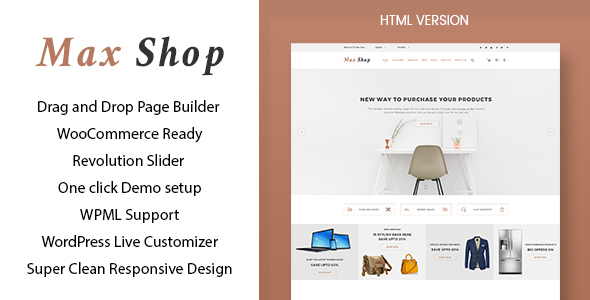 Max Shop Preview Wordpress Theme - Rating, Reviews, Preview, Demo & Download