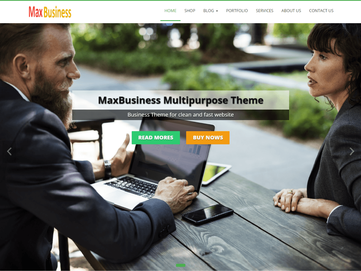 MaxBusiness Preview Wordpress Theme - Rating, Reviews, Preview, Demo & Download