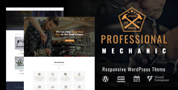 Mechanic Professional Preview Wordpress Theme - Rating, Reviews, Preview, Demo & Download
