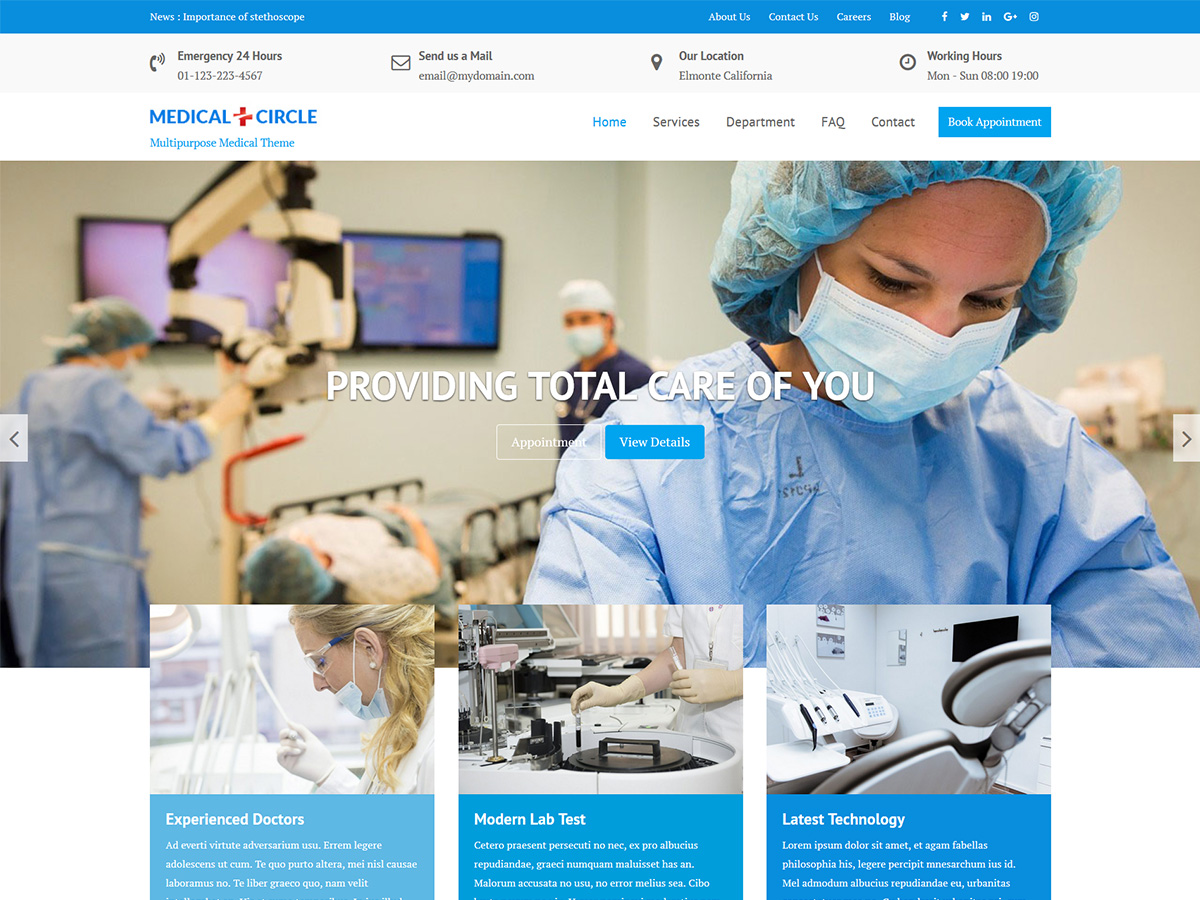Medical Circle Preview Wordpress Theme - Rating, Reviews, Preview, Demo & Download