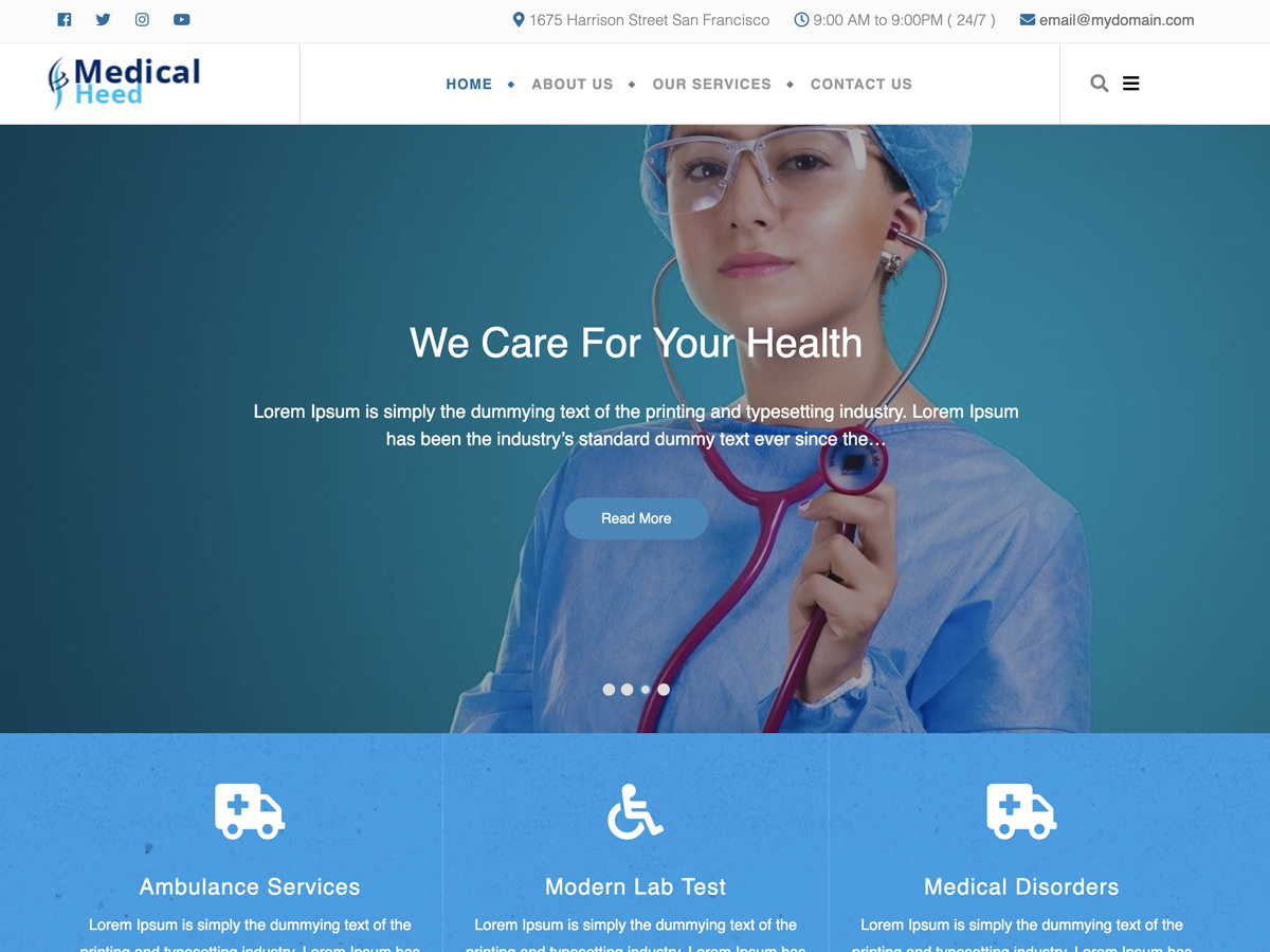 Medical Heed Preview Wordpress Theme - Rating, Reviews, Preview, Demo & Download