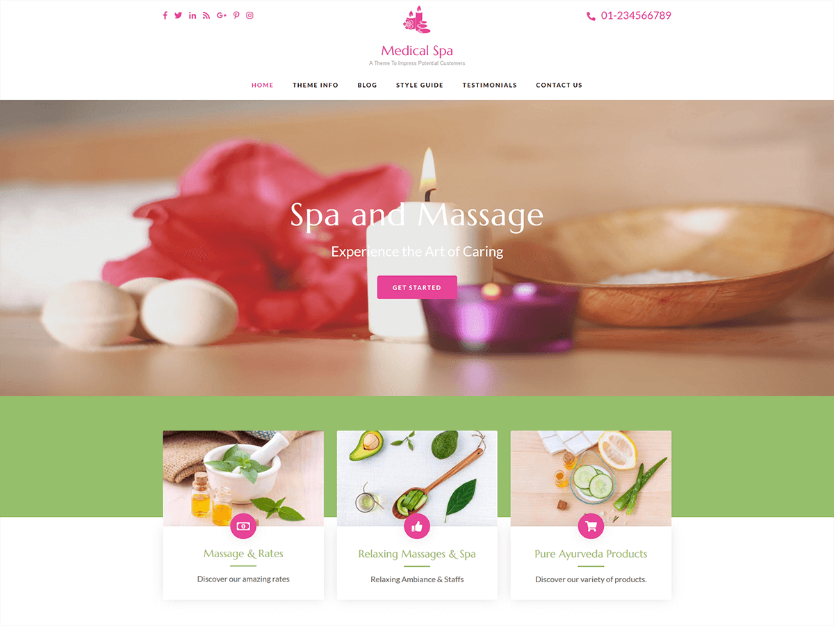 Medical Spa Preview Wordpress Theme - Rating, Reviews, Preview, Demo & Download