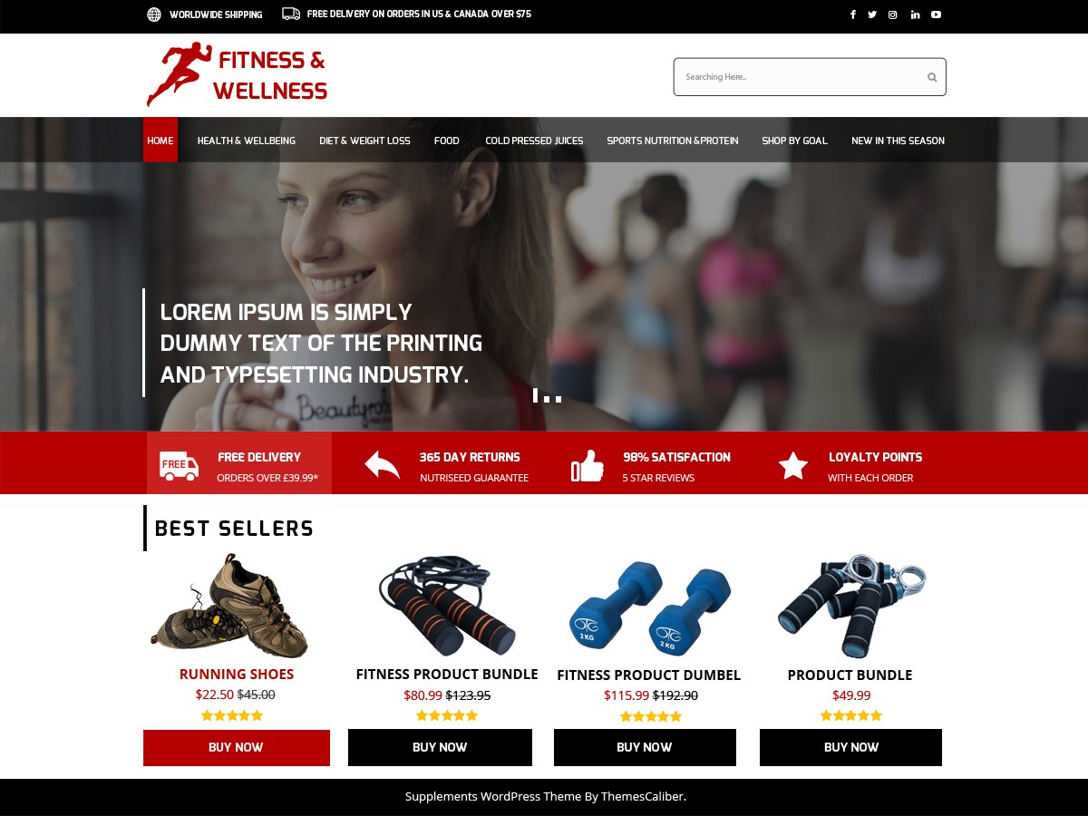Medical Supplements Preview Wordpress Theme - Rating, Reviews, Preview, Demo & Download