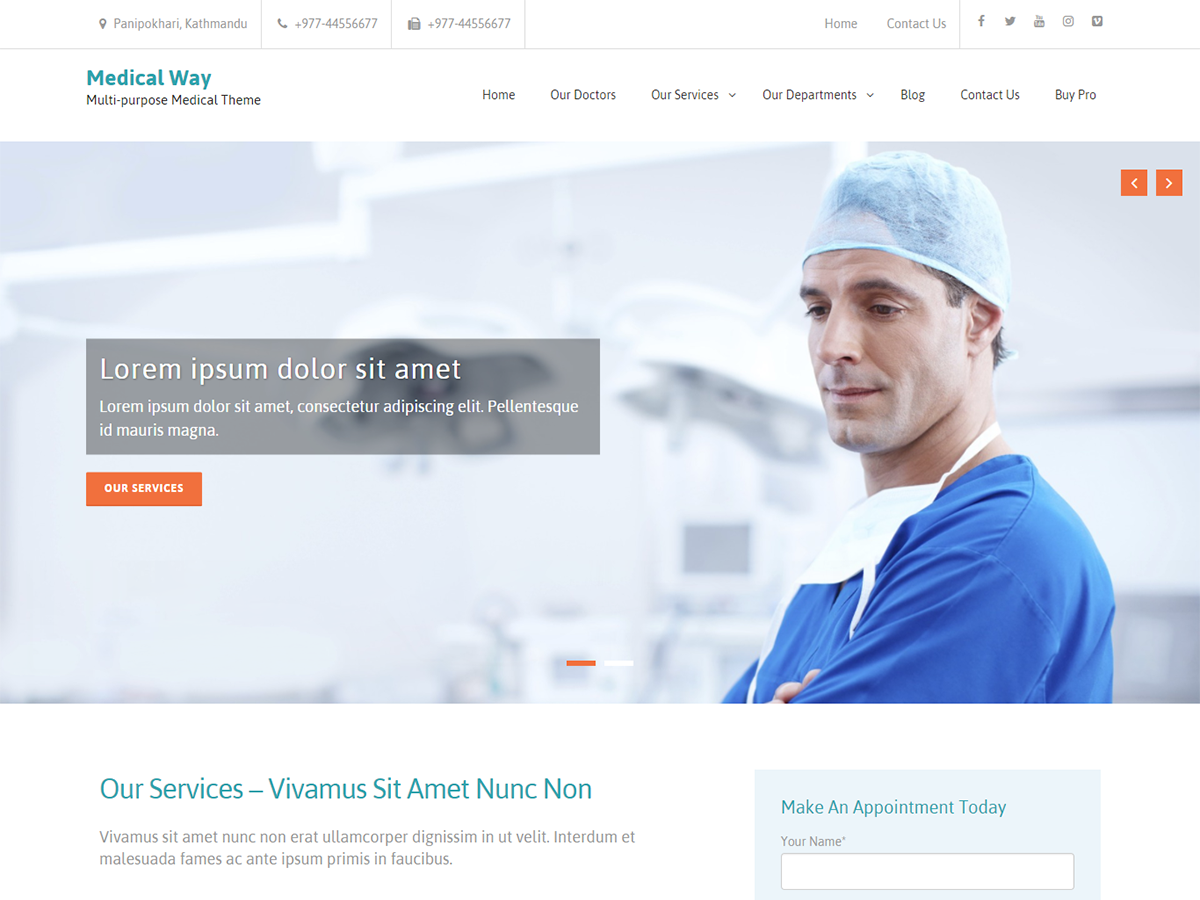 Medical Way Preview Wordpress Theme - Rating, Reviews, Preview, Demo & Download