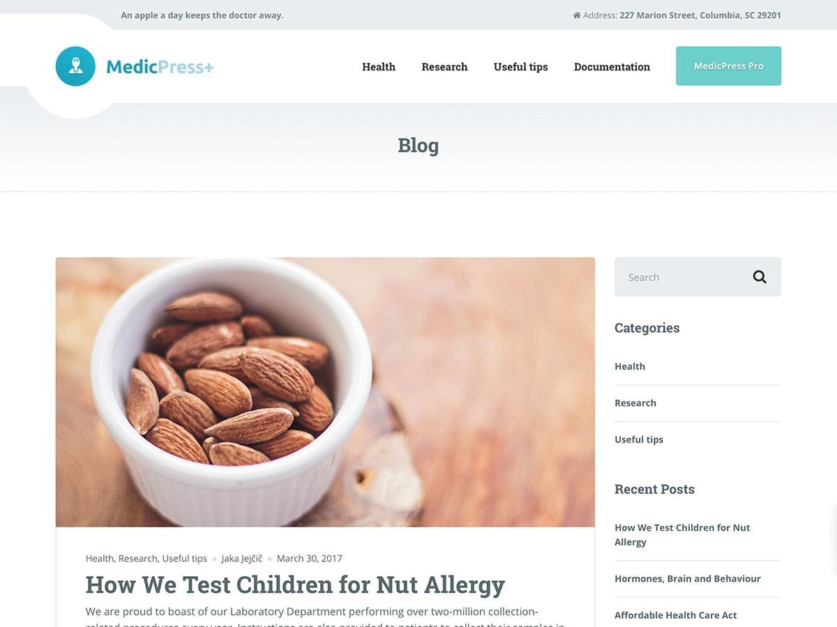 MedicPress Lite Preview Wordpress Theme - Rating, Reviews, Preview, Demo & Download