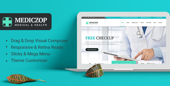 Mediczop Preview Wordpress Theme - Rating, Reviews, Preview, Demo & Download