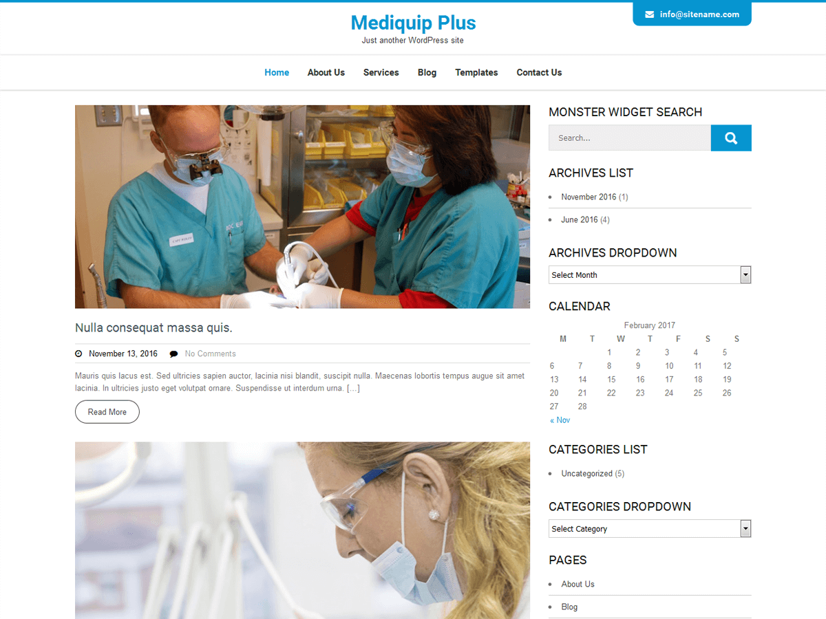 Mediquip Plus Preview Wordpress Theme - Rating, Reviews, Preview, Demo & Download