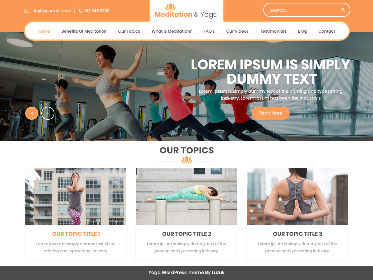 Meditation And Preview Wordpress Theme - Rating, Reviews, Preview, Demo & Download