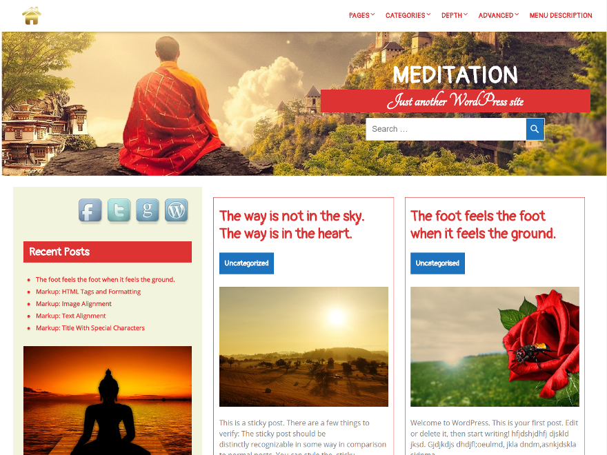 Meditation Preview Wordpress Theme - Rating, Reviews, Preview, Demo & Download