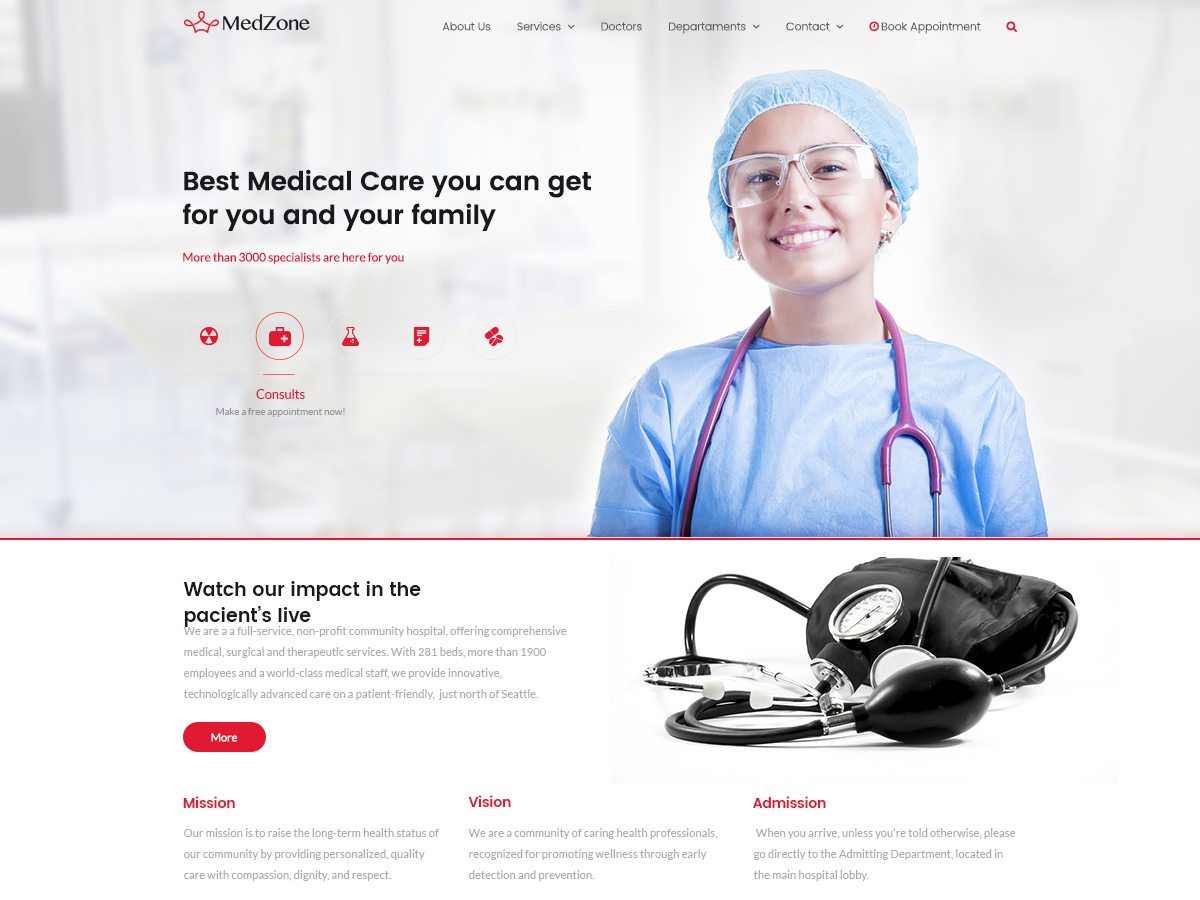 MedZone Lite Preview Wordpress Theme - Rating, Reviews, Preview, Demo & Download