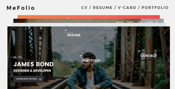 Mefolio Resume Preview Wordpress Theme - Rating, Reviews, Preview, Demo & Download