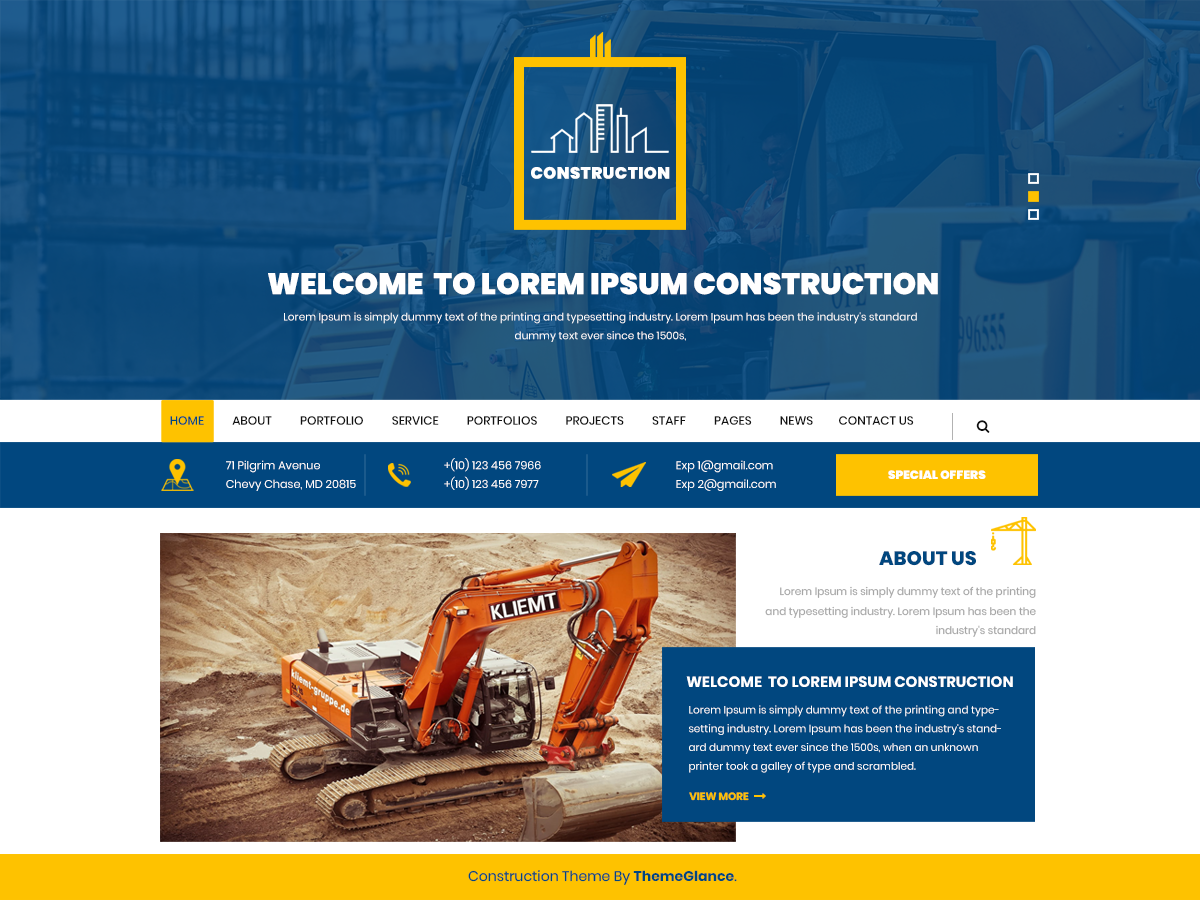 Mega Construction Preview Wordpress Theme - Rating, Reviews, Preview, Demo & Download