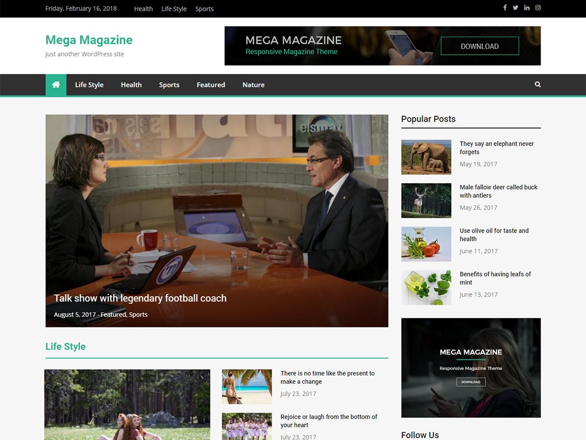 Mega Magazine Preview Wordpress Theme - Rating, Reviews, Preview, Demo & Download