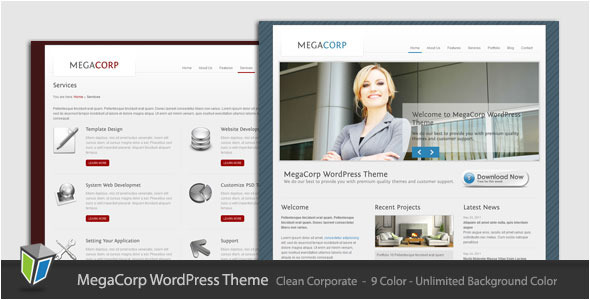 MegaCorp Preview Wordpress Theme - Rating, Reviews, Preview, Demo & Download