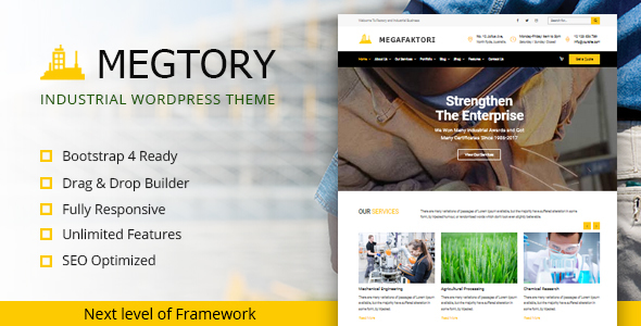 Megtory Preview Wordpress Theme - Rating, Reviews, Preview, Demo & Download