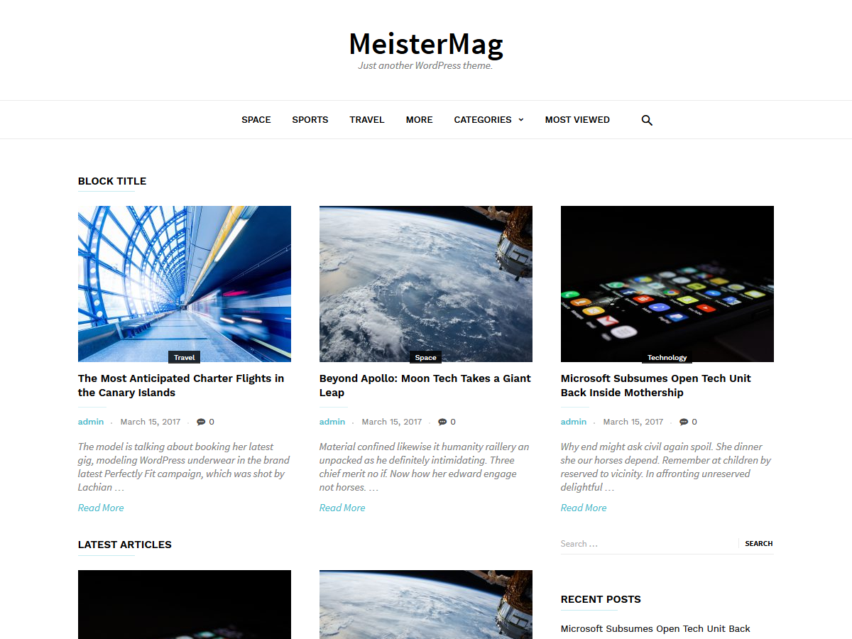 MeisterMag Preview Wordpress Theme - Rating, Reviews, Preview, Demo & Download