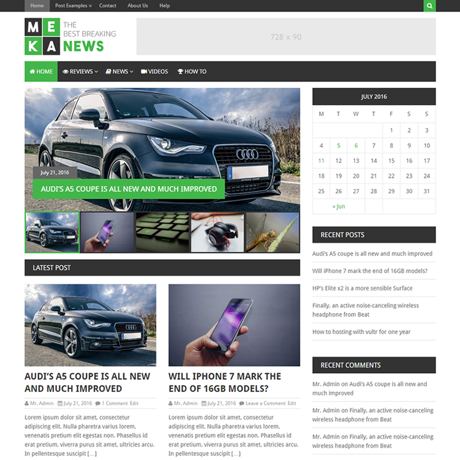 MekaNews Lite Preview Wordpress Theme - Rating, Reviews, Preview, Demo & Download