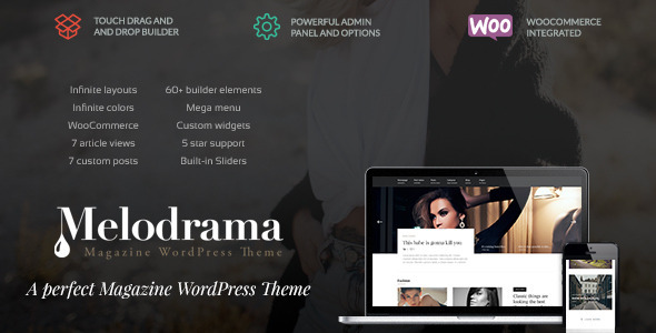 Melodrama Preview Wordpress Theme - Rating, Reviews, Preview, Demo & Download