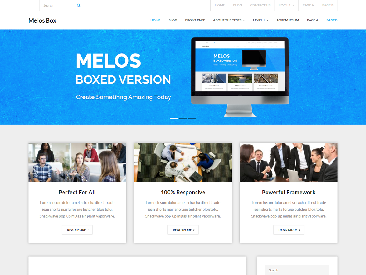Melos Boxed Preview Wordpress Theme - Rating, Reviews, Preview, Demo & Download