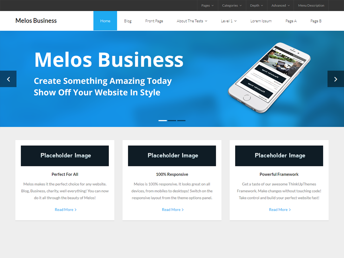 Melos Business Preview Wordpress Theme - Rating, Reviews, Preview, Demo & Download