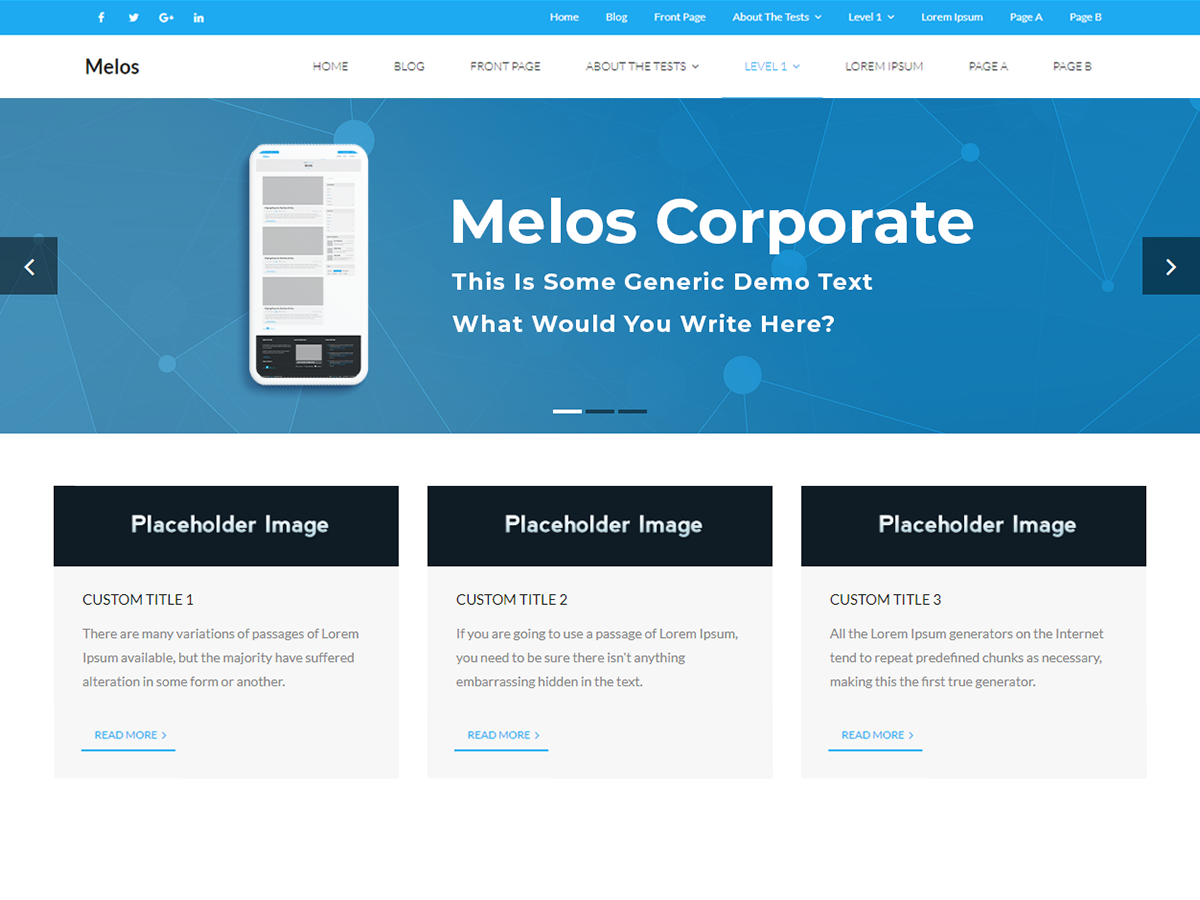 Melos Corporate Preview Wordpress Theme - Rating, Reviews, Preview, Demo & Download