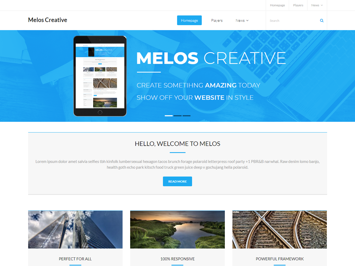 Melos Creative Preview Wordpress Theme - Rating, Reviews, Preview, Demo & Download