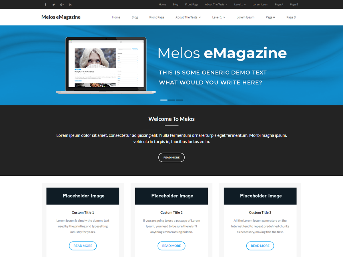 Melos EMagazine Preview Wordpress Theme - Rating, Reviews, Preview, Demo & Download