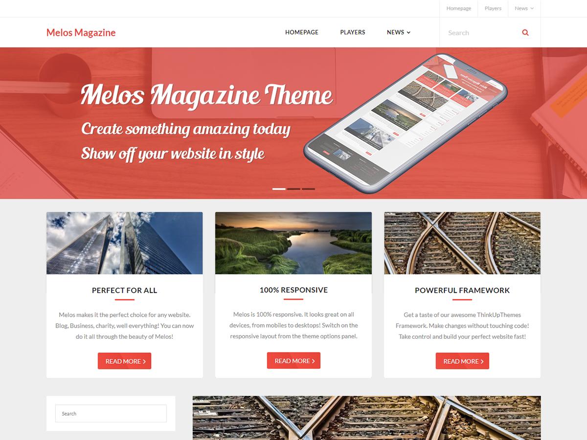 Melos Magazine Preview Wordpress Theme - Rating, Reviews, Preview, Demo & Download