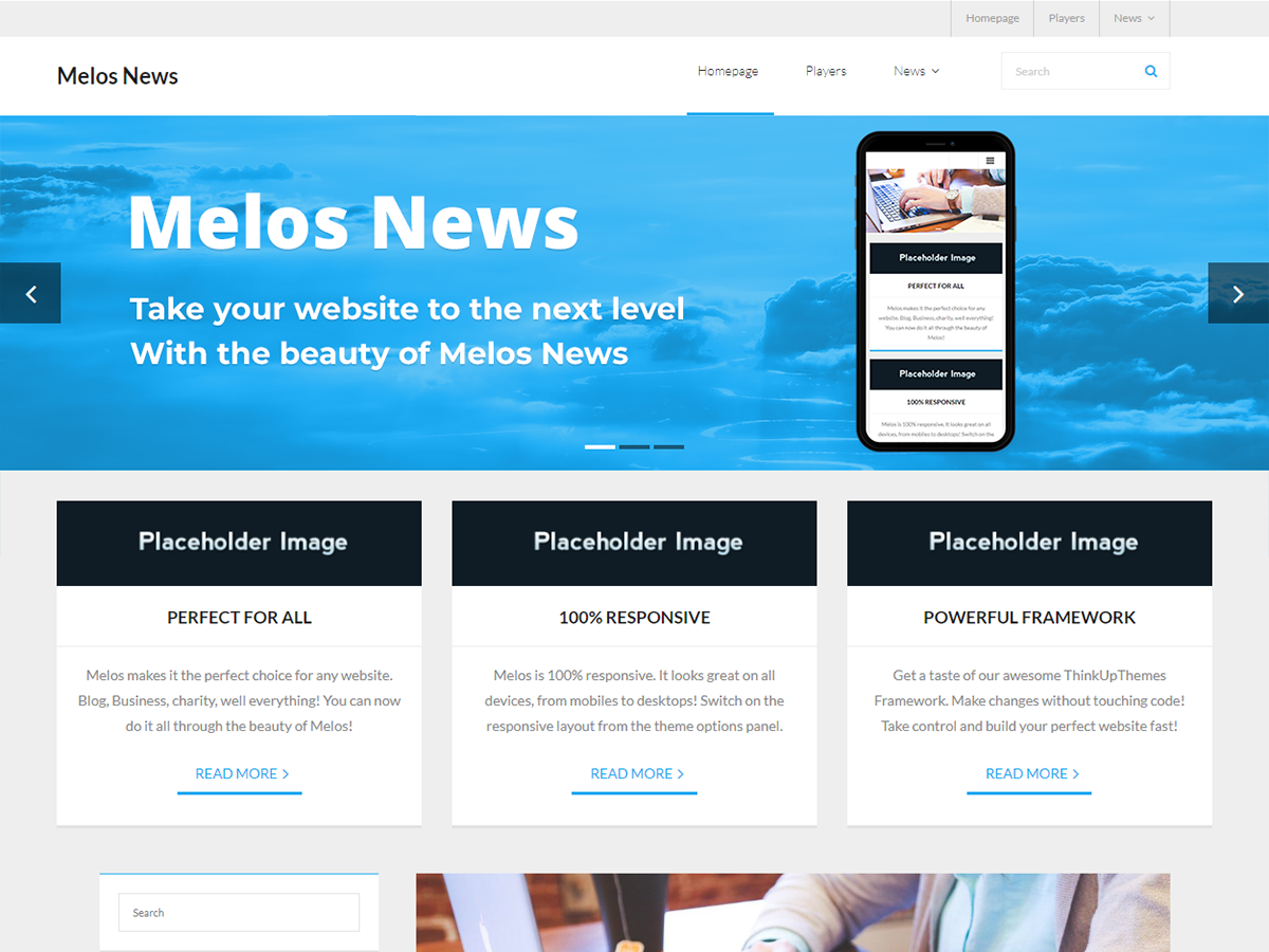 Melos News Preview Wordpress Theme - Rating, Reviews, Preview, Demo & Download