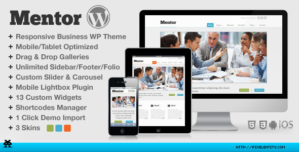 Mentor Preview Wordpress Theme - Rating, Reviews, Preview, Demo & Download
