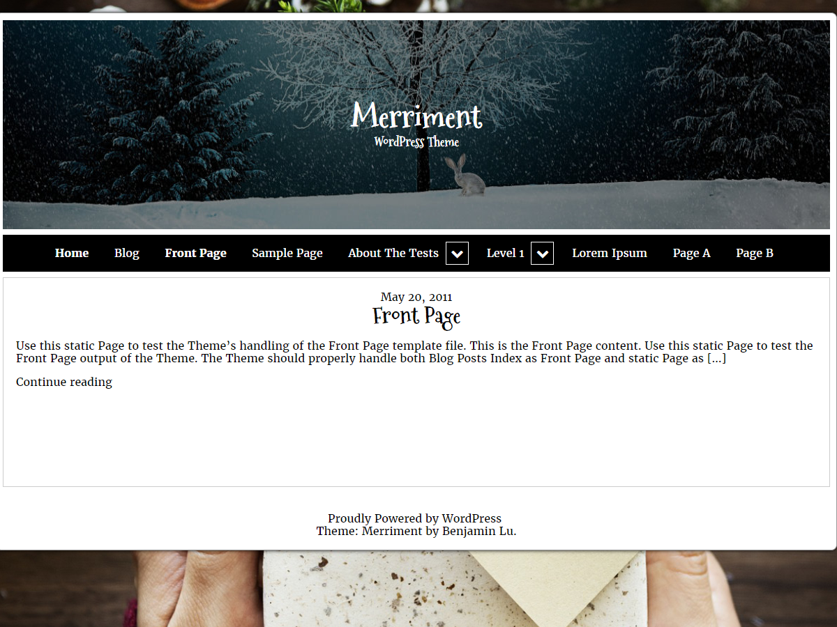 Merriment Preview Wordpress Theme - Rating, Reviews, Preview, Demo & Download