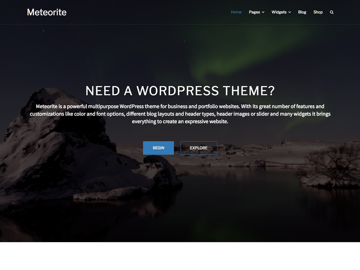 Meteorite Preview Wordpress Theme - Rating, Reviews, Preview, Demo & Download