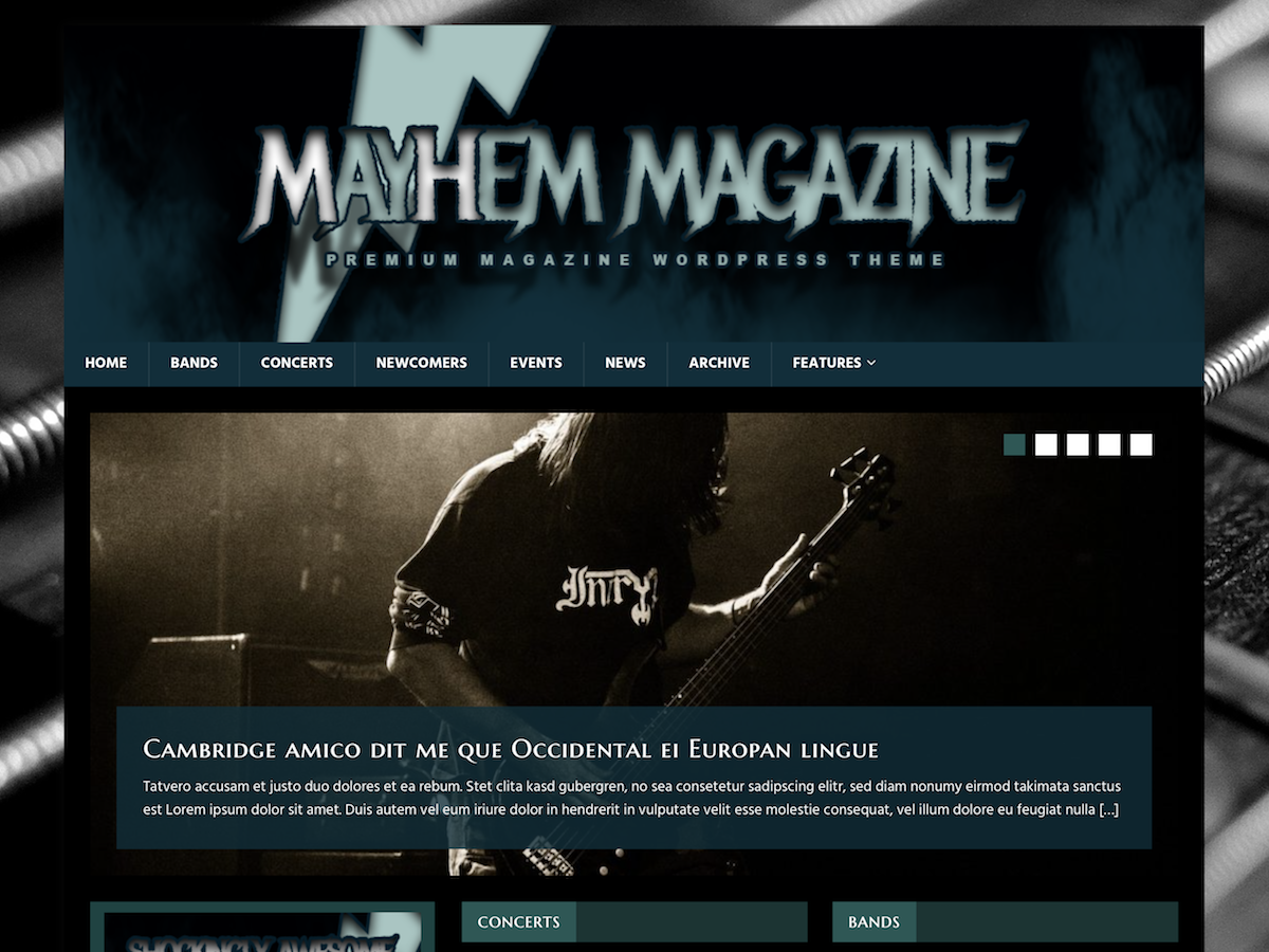 MH MusicMag Preview Wordpress Theme - Rating, Reviews, Preview, Demo & Download