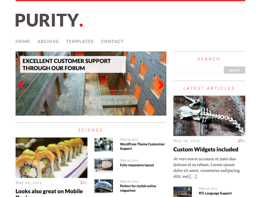 MH Purity Preview Wordpress Theme - Rating, Reviews, Preview, Demo & Download