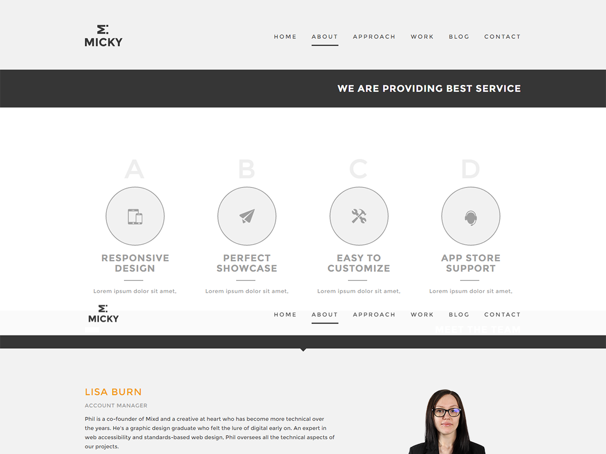 Micky Preview Wordpress Theme - Rating, Reviews, Preview, Demo & Download