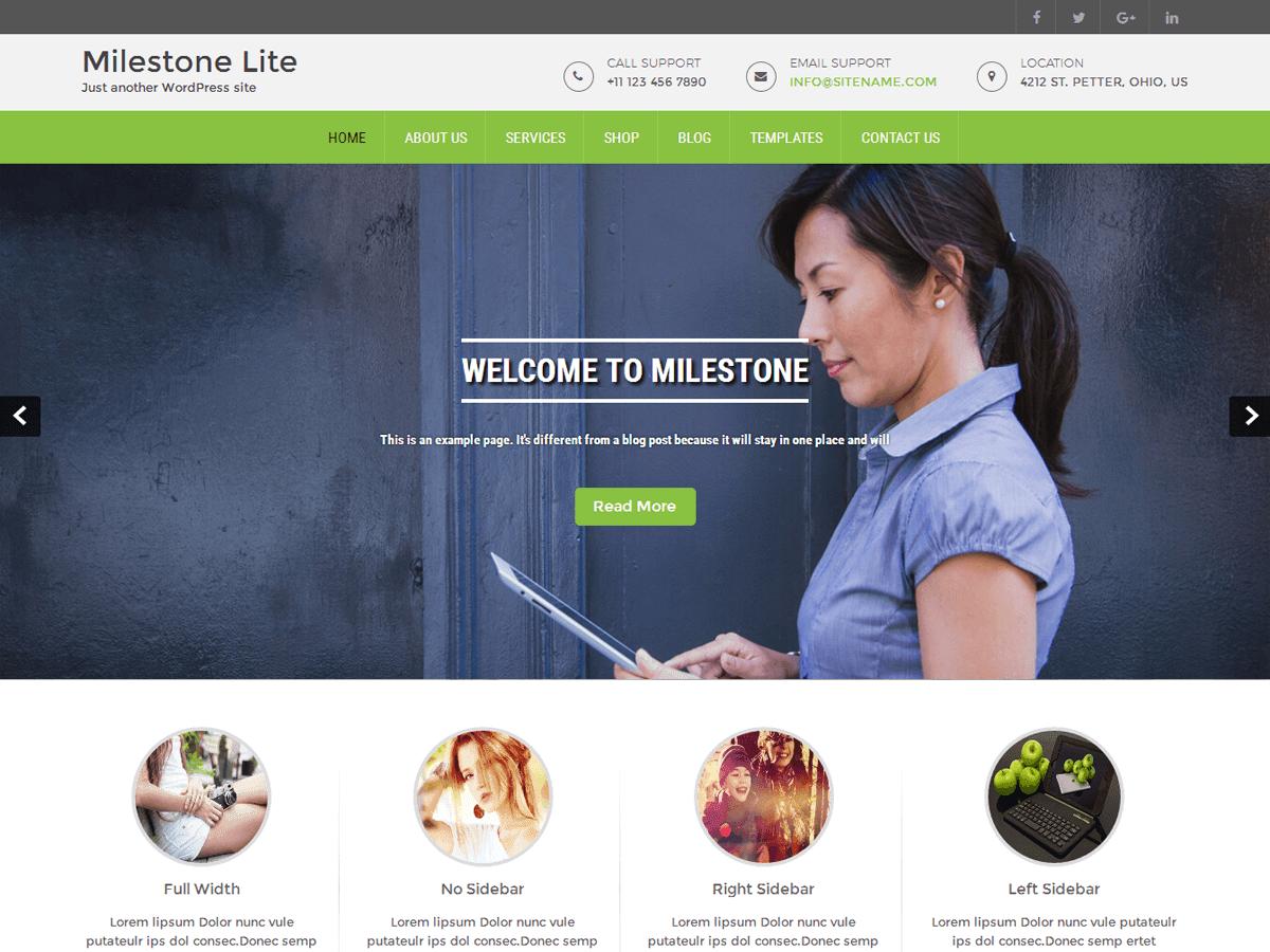 Milestone Lite Preview Wordpress Theme - Rating, Reviews, Preview, Demo & Download