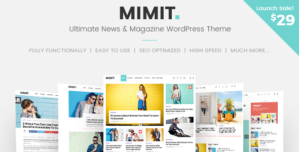 Mimit Preview Wordpress Theme - Rating, Reviews, Preview, Demo & Download