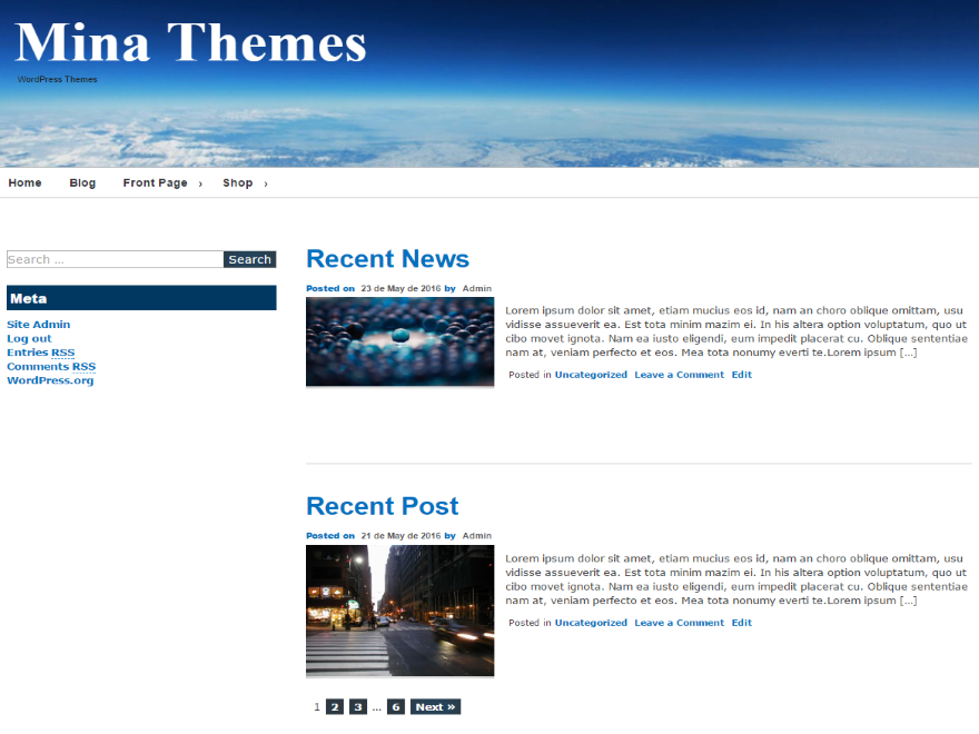 Mina Preview Wordpress Theme - Rating, Reviews, Preview, Demo & Download