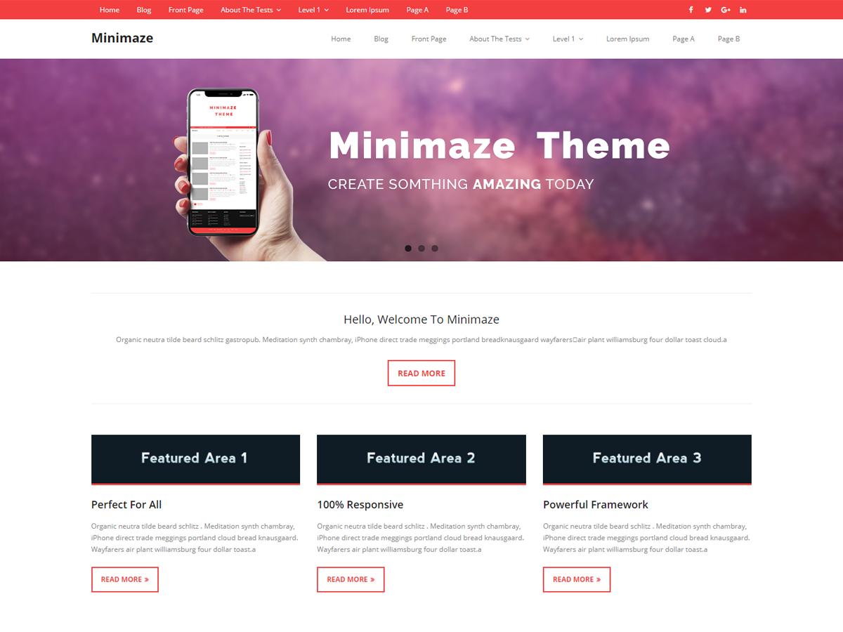 Minamaze Magazine Preview Wordpress Theme - Rating, Reviews, Preview, Demo & Download