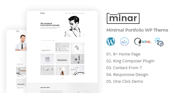 Minar Preview Wordpress Theme - Rating, Reviews, Preview, Demo & Download