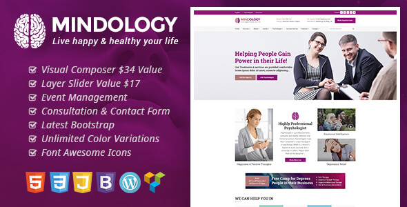 Mindology Preview Wordpress Theme - Rating, Reviews, Preview, Demo & Download