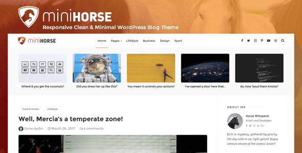 MiniHorse Preview Wordpress Theme - Rating, Reviews, Preview, Demo & Download
