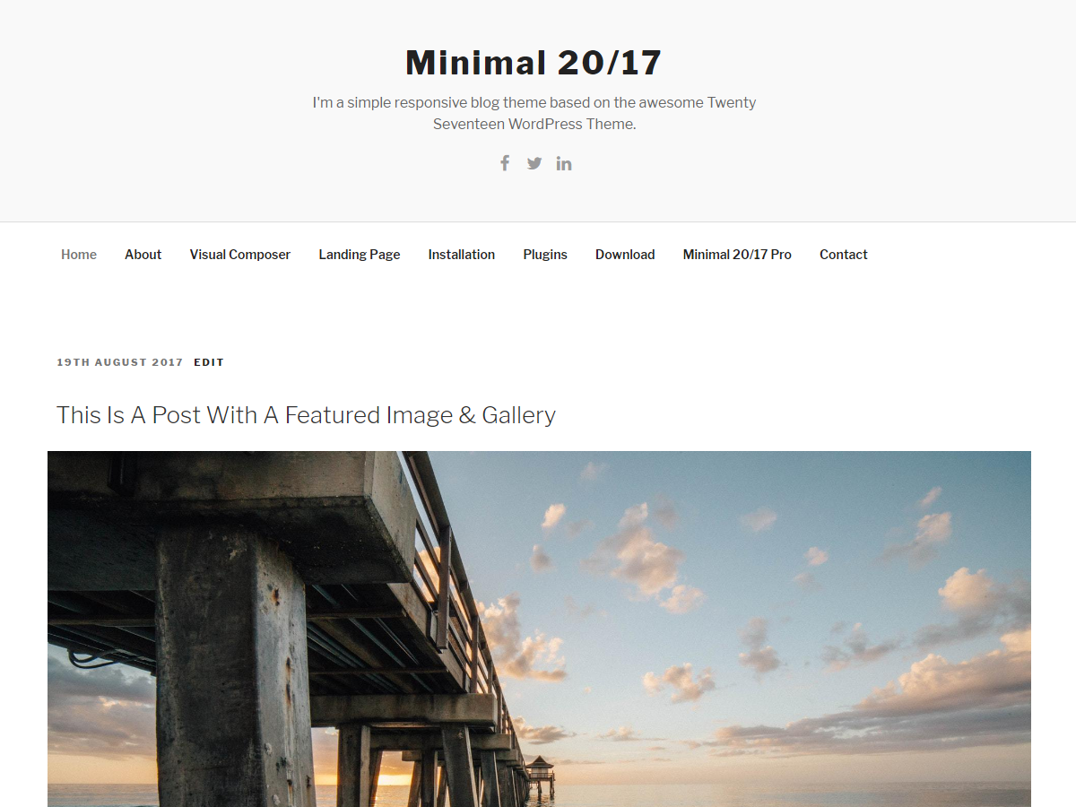 Minimal 20 Preview Wordpress Theme - Rating, Reviews, Preview, Demo & Download