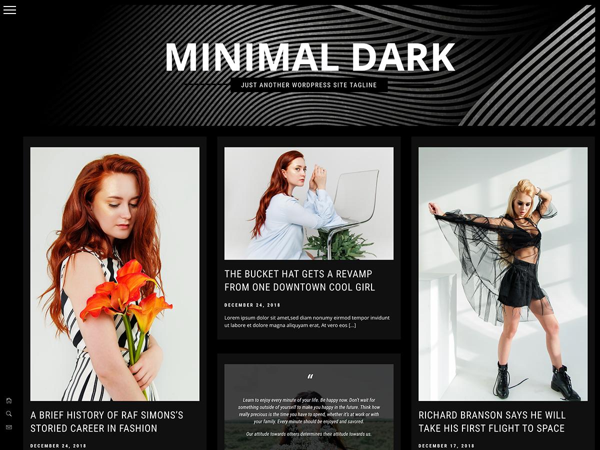 Minimal Dark Preview Wordpress Theme - Rating, Reviews, Preview, Demo & Download