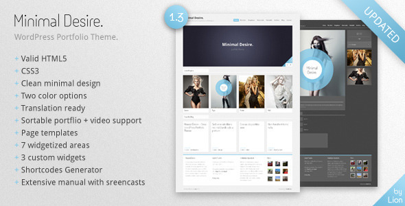 Minimal Desire Preview Wordpress Theme - Rating, Reviews, Preview, Demo & Download