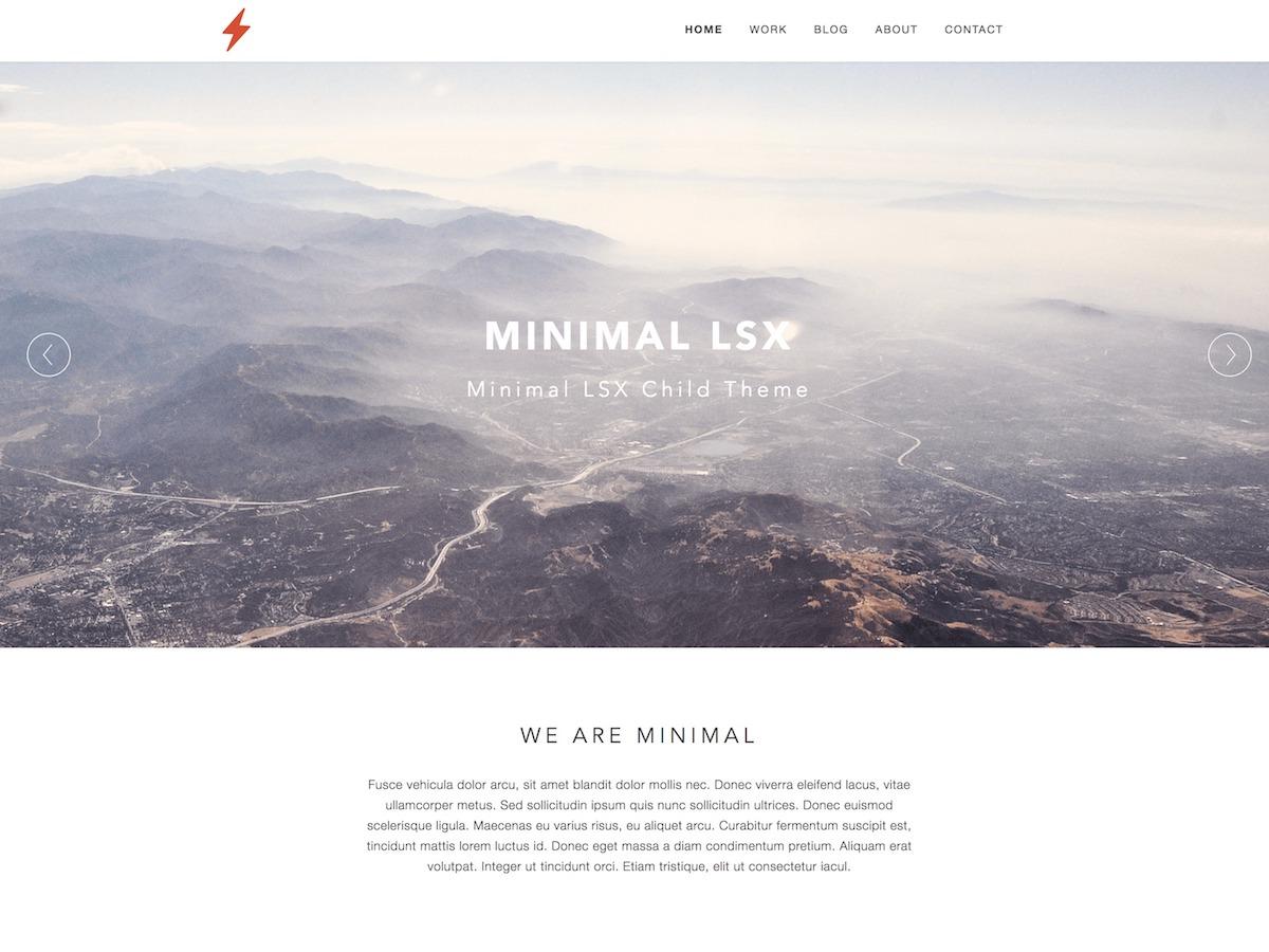 Minimal LSX Preview Wordpress Theme - Rating, Reviews, Preview, Demo & Download