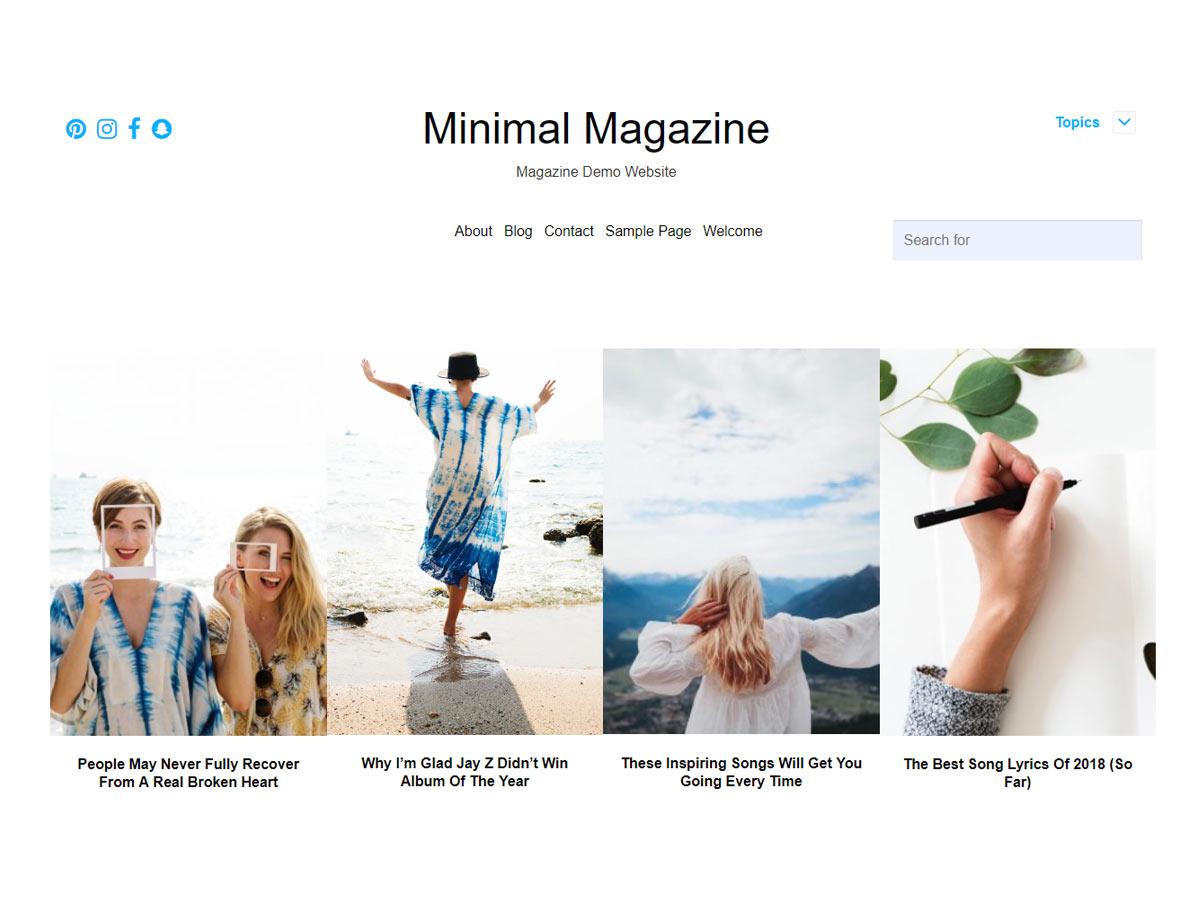 Minimal Magazine Preview Wordpress Theme - Rating, Reviews, Preview, Demo & Download