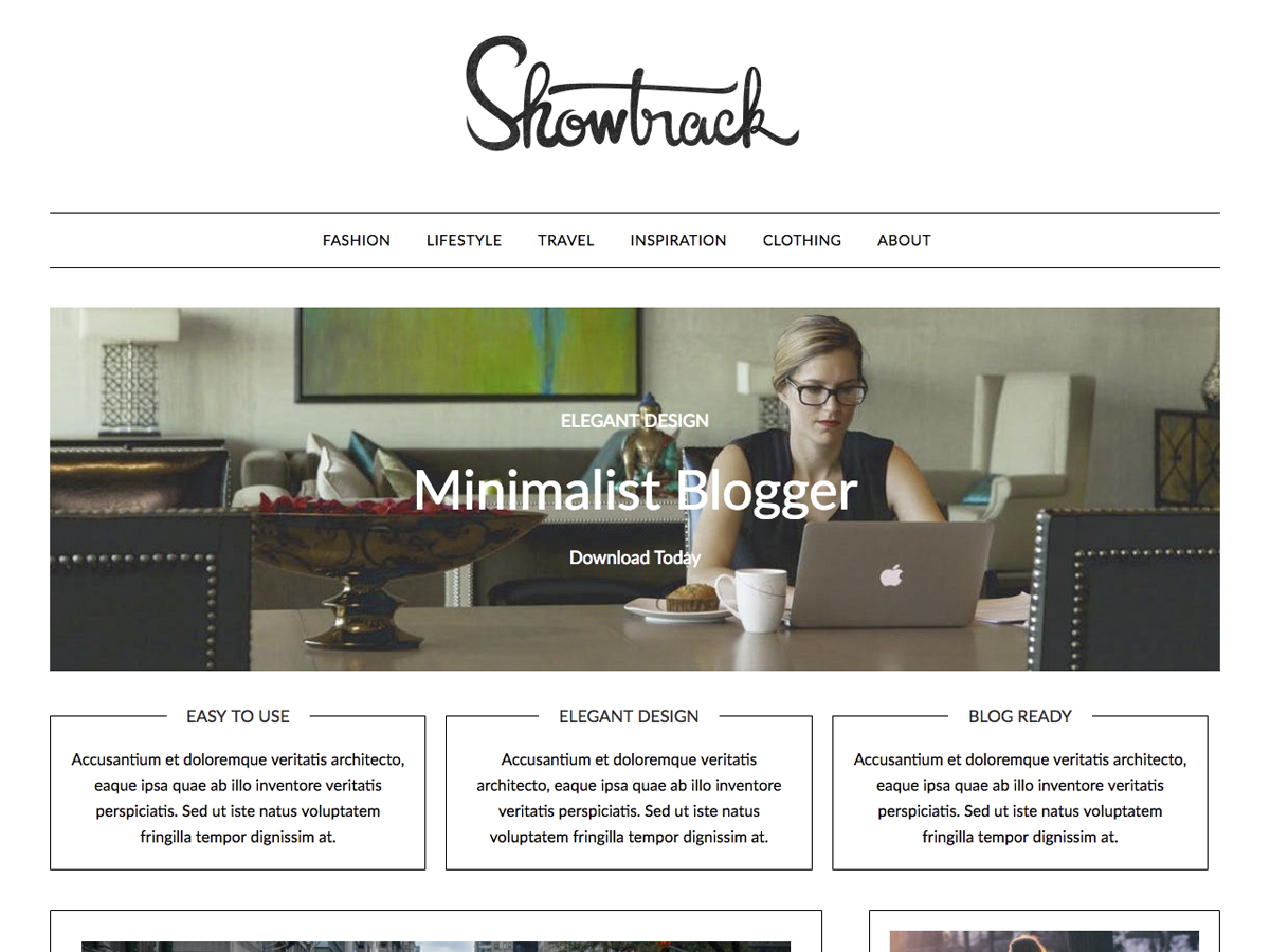 MinimalistBlogger Preview Wordpress Theme - Rating, Reviews, Preview, Demo & Download