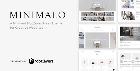 Minimalo Preview Wordpress Theme - Rating, Reviews, Preview, Demo & Download