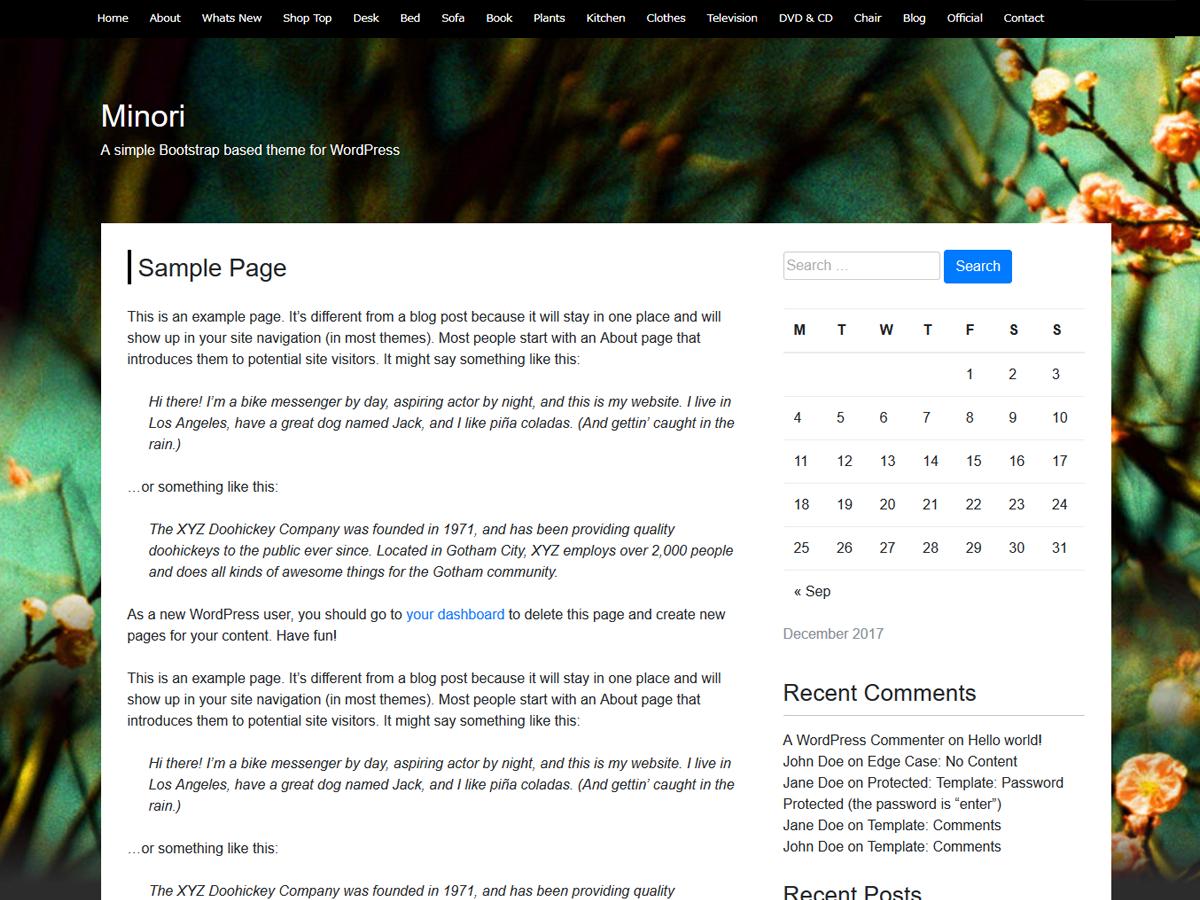 Minori Preview Wordpress Theme - Rating, Reviews, Preview, Demo & Download